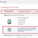 """An dieser Stelle ändern Sie Ihre registrierte Handynummer, zum Beispiel bei dem Wechsel der Rufnummer. Außerdem aktivieren Sie die Zusendung des Codes über die App """"Google Authenticator"""". Auf den weiteren Registerkarten erstellen Sie App-Passwörter oder sehen die als vertrauenswürdig gespeicherten Geräte ein und können diese dort löschen. (Bild: Screenshot / google.com)"""