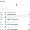 An dieser Stelle sehen Sie die Login-Versuche der letzten Tage und können überprüfen, ob es sich dabei um bekannte Geräte von Ihnen handelt oder ob eventuell ein Fremder Ihr Google-Konto geknackt hat. Neben Datum und Uhrzeit verrät die Liste auch, mit welchem Webbrowser und Betriebssystem zugegriffen wurde. Auch die IP-Adresse und der Standort ist den Details zu entnehmen. (Bild: Screenshot / google.com)