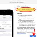 Daraufhin wird Ihnen das generierte Kennwort auf dem Bildschirm angezeigt. Das Passwort ist nur einmal gültig. Geben Sie das Passwort auf dem iPhone oder einer anderen Anwendung ein. Das Kennwort wird an der Stelle eingegeben, wo Sie in der Vergangenheit Ihr normales Google-Kennwort eingegeben haben. Damit umgehen Sie die Eingabe des Einmal-PINs. (Bild: Screenshot / google.com)