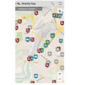Haben Sie auf der Karte ein freies Auto erkannt, welches bei Ihnen in der Nähe steht, so tippen Sie die Stecknadel an. (Bild: Screenshot / Mobility Map)