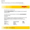 """04.03. 2015: Diese E-Mail stammt weder von DHL noch führen die Links zur Sendungsverfolgung. Verteilt wird der Trojaner """"Mal/DrodZp-A"""". Betroffenes Betriebssystem: Windows."""