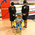 Der HitchBot ist gezeichnet von seinem Deutschland-Aufenthalt.