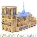 Notre-Dame aus dem Stift. Ein wenig Geschick mit dem 3Doodler ist dafür allerdings schon vonnöten. (Bild: Screenshot Kickstarter WobbleWorks LLC.)
