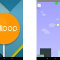 Ein Androide auf den Spuren des Flappy Birds im Android Lollipop Easter Egg.