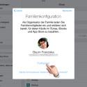 """Jetzt sollst du bestätigen, dass deine Apple-ID als Organisator verwendet werden soll. Tippe auf """"Fortfahren""""."""