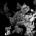 Die ersten beiden Aufnahmen von CIVA zeigen die Umgebung von Philae auf dem Kometen. Die ersten beiden Aufnahmen von CIVA zeigen die Umgebung von Philae auf dem Kometen. (Bild: ESA/Rosetta/Philae/CIVA)
