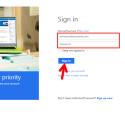 """Jetzt musst du dich mit deinem Microsoft-Konto anmelden, falls du nicht bereits angemeldet bist. Gib die E-Mail-Adresse und das Passwort ein und klicke auf """"Sign In""""."""