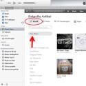 """Wähle oben Links """"Musik"""" aus tippe darunter auf """"Alben"""". Du siehst jetzt Deine gekauften und kostenlos von Apple erhaltenen Alben."""