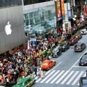 iPhone 6-Schlange in New York. (Bild: Screenshot @PrinceDollars Twitter)