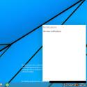 Ob die Benachrichtigungszentrale auch in der finalen Version von Windows 9 enthalten ist? (Quelle: ComputerBase)