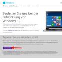 """Klicke auf """"Erste Schritte"""" um den Anmeldeprozess für das Windows Insider Programm zu starten."""