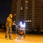 Gemalt auf der unsichtbaren Leinwand: Lichtfaktor beziehen gerne die Umgebung mit in ihre Bildideen ein.