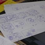 Im ersten Stadium sind alle Ideen erstmal nur grob skizziert, bevor sie richtig in Angriff genommen werden.