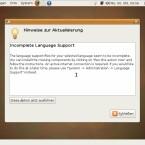 Die Sprachpakete werden installiert.