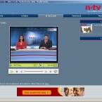 Das Programm von N-TV wird nahezu vollständig als Live-Stream über das Internet übertragen.