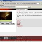 Da die BBC Videos nur mit schmalem Datendurchsatz anbietet, ist das Wiedergabefenster recht klein. Bei der Wiedergabe im Vollbildmodus erscheint auf dem Bildschirm nur noch Pixelbrei.
