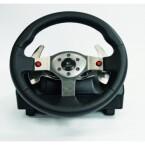Im Gegensatz zum Momo-Racing-Lenkrad von Logitech wurde die Schaltkulisse getrennt und mit einer eigenen Halterung versehen. Wer in seinem eigenen Auto mit Tiptronic fährt oder es gerne möchte, kann die Schaltung einfach vom manuellen in den sequenziellen Modus umstellen.