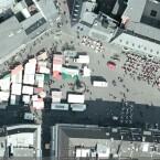 Der Marktplatz vor dem Bonner Rathaus