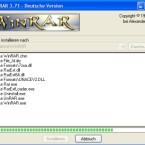 Das pure Kopieren der Daten dauert bei WinRAR nur wenige Sekunden.