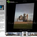 Große wie kleine Jungs können sich nun ein Space Shuttle aus nächster Nähe ansehen, wie es sonst wohl nur die Raumfahrer selbst zu Gesicht bekommen. Microsoft liefert zwar nicht das Steuerungsprogramm für den Flug ins All, dafür einen virtuellen Rundflug um Cape Caneveral.