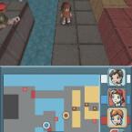 Der Obere Bildschirm zeigt die Aktion und der untere zeigt die Map, und erlaubt es via Stylus die Charaktere durch zu schalten.