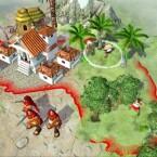 Ein kleines Dorf im Grünen.