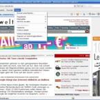Klicken Sie im Internet Explorer auf <i>Extras > Internetoptionen</i>.