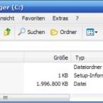 Haben Sie das <i>Traveller Disk Setup</i> abgeschlossen, sollten sich diese Dateien auf dem USB-Stick befinden.
