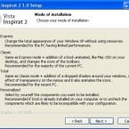 Bereits bei der Installation von Vista Inspirat können Sie auswählen, wie umfangreich die Änderungen werden sollen.