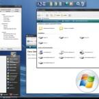 So kann Windows XP dank Vista Inspirat aussehen.
