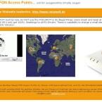 Ein Teil der Startseite der La Fonera. Hier können Bill und Linus eingeschränkt eigene Inhalte zur Verfügung stellen. Die Webadresse ist bis auf Downloads und externe Links für jedermann nutzbar.