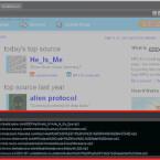 Eine kleine Info-Blase am Bildschirmrand zeigt den gerade gespielten Song an