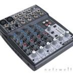 Behringer hat dem Aufnahmeset ein 8-Kanal-Mischpult beigelegt, bei dem mit einem Equalizer die Höhen und Tiefen der Stimme separat verstärkt werden können.