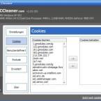 Sie können einzelne Cookies, die Sie behalten möchten, gezielt von der Optimierung ausschließen - etwa der Cookie für Ihren Webmailer.