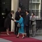 ... oder beim Empfang von Staatsgästen in der Downing Street.