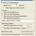 Die Temperatur von Grafikkarte und Umgebung geht bei Bedarf in ein Logbuch ein.
