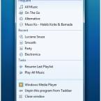 Dank der neuen Taskleiste in Windows 7 lassen sich per Rechtsklick in der so genannten <i>Jump List</i> gängigen Funktionen schnell aufrufen.