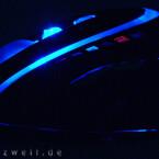 Verarbeitung deutlich unter Logitech-Niveau: Die Innenbeleuchtung dringt durch die breiten Ritzen.