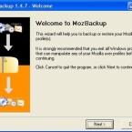 Der Assistent von MozBackup führt Sie schrittweise durch die Datensicherung.