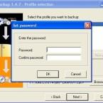 Auf Wunsch können Sie die beim Backup erzeugt PCV-Datei mit einem Passwort sichern.