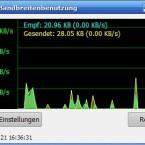 Der Speedtest zeigt: Mit eingeschalteter Tor-Anonymisierung kommen Sie kaum über ISDN-Geschwindigkeit.