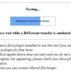 Das Webtool startet jetzt Up- und Downloads, indem Ihr Computer mit den Webservern des Instituts kommuniziert.