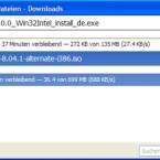 Normale Downloads laufen parallel zu den BitTorrent-Übertragungen im gleichen Fenster.