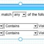 Das Filtermodul: Hier können Stichwörter eingegeben werden, die in die nachfolgenden Boxen weiterlaufen.