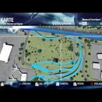 Google Earth lässt grüßen: Beim Reinzoomen mit dem Mausrad werden auch kleinere Details sichtbar, hier der Flughafen von Honolulu. Bereits entdeckte Straßen sind blau markiert und auf Mausklick erreichbar.