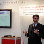 Am CeBIT-Stand wird AntiVir vorgestellt.