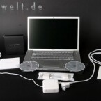 Lieferumfang des MacBook Pro.