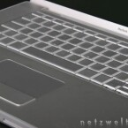 Multi-Touch-Trackpad und Tastatur des MacBook Pro.