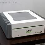 HFX micro: Mit seinem kleinsten tritt mCubed sogar beim weltweiten, mit einer Million Dollar dotierten Design-Wettbewerb von Intel an. Dabei wird der eleganteste und schlankste Rechner für die nächste Generation von Heim-PCs gesucht.