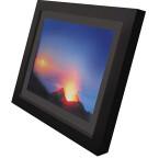 Display: 15 Zoll / Auflösung: 1.024 x 768 Pixel / interner Speicher: 128 MB / Speicherkarten: CF, SD, MMC, MS / USB-Port / Fernbedienung / Abmessungen: 415 x 340 x 55 mm / Gewicht: 2.950 Gramm